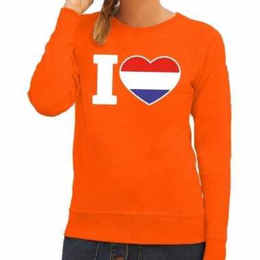 Oranje i love holland trui dames