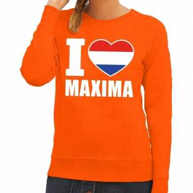 Oranje i love maxima trui dames