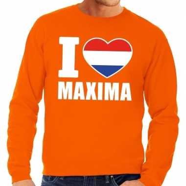 Oranje i love maxima trui heren en dames