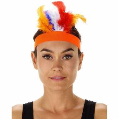 Oranje indianen tooi verkleedaccessoire diadeem voor dames/volwassene