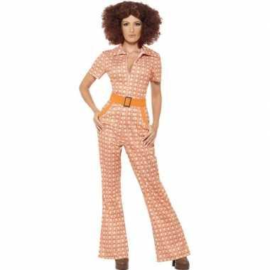 Oranje jaren 70 verkleedkleding voor dames