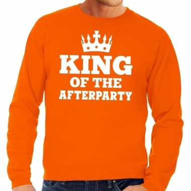 Oranje king of the afterparty sweater heren