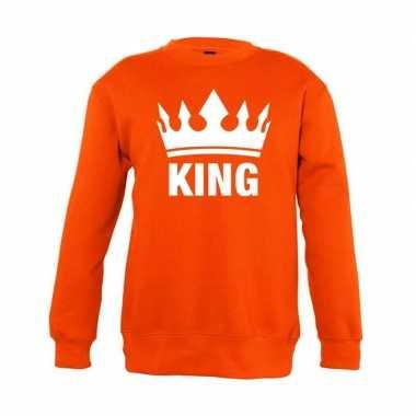 Oranje koningsdag king trui jongens en meisjes
