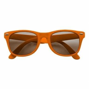 Oranje kunststof zonnebril/zonnenbril voor dames/heren