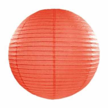 Oranje lampion rond 35 cm