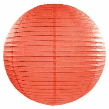 Oranje lampion rond 50 cm