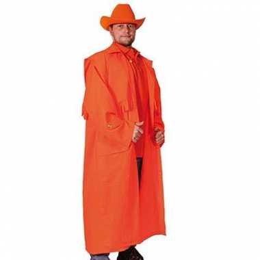 Oranje lange jas voor volwassenen