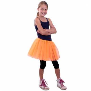 Oranje meisjes verkleed rokje