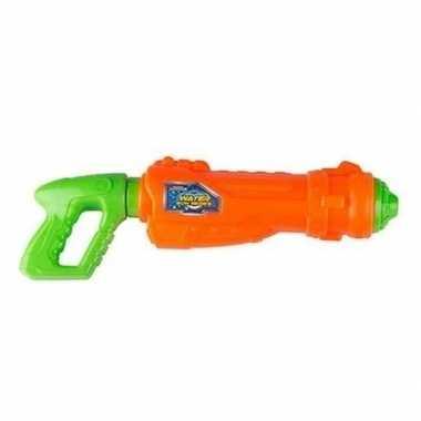 Oranje met groene waterpistolen 44 cm