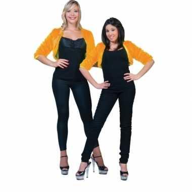 Oranje nepbonten jasje voor dames