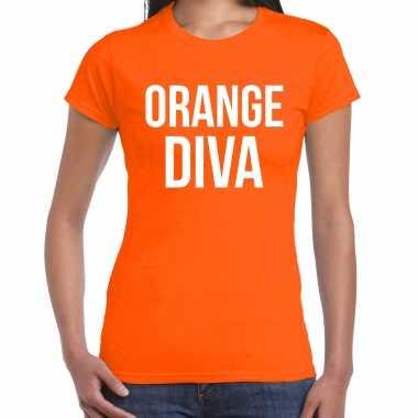 Oranje orange diva shirt - koningsdag t-shirt voor dames