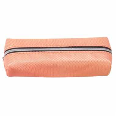 Oranje pennen etui 19 cm