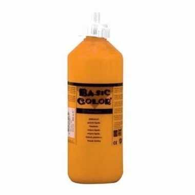 Oranje plakkaatverf tube 500 ml
