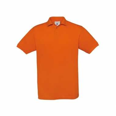 Oranje polo shirt korte mouwen