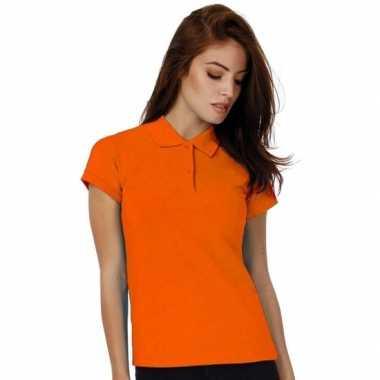 Oranje poloshirt voor dames