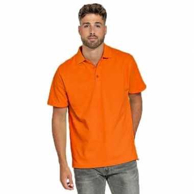 Oranje poloshirt voor heren