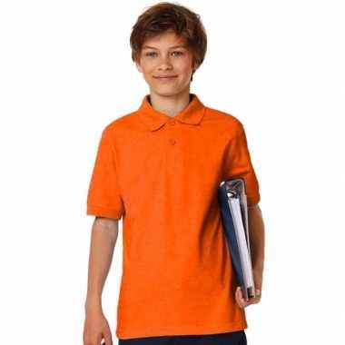 Oranje poloshirt voor jongens