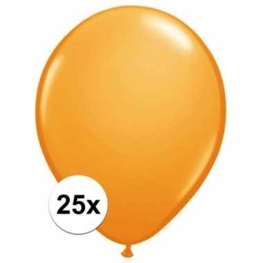 Oranje qualatex ballonnen 25 stuks
