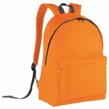 Oranje rugtas voor kinderen 38 cm