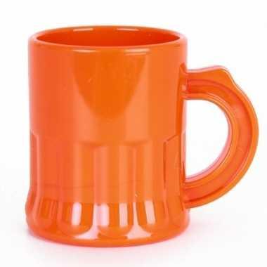 Oranje shotglaasjes 2,5 cl