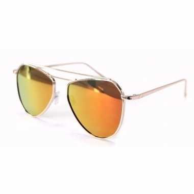 Oranje spiegel dames pilotenbrillen model 2002