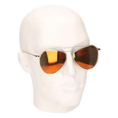 Oranje spiegel heren pilotenbrillen model 2002