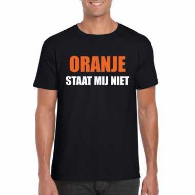 Oranje staat mij niet t-shirt zwart heren