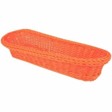 Oranje stokbrood mandje 37 5 cm