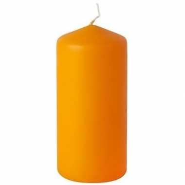 Oranje stompkaars 20 cm 65 branduren