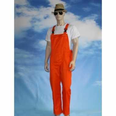 Oranje tuinbroek voor dames en heren
