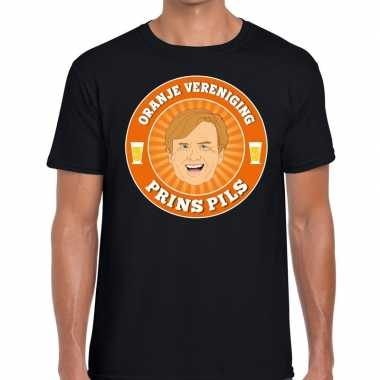 Oranje vereniging prins pils t-shirt zwart heren
