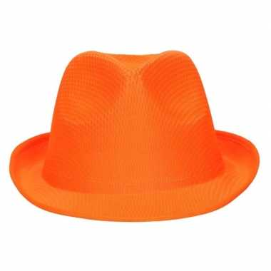 Oranje verkleed gleufhoedje