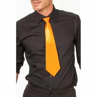 Oranje verkleed stropdassen 41 cm voor dames/heren