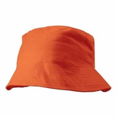 Oranje vissershoedje 57-58 cm