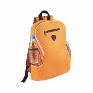 Oranje voordelige rugzak/rugtas