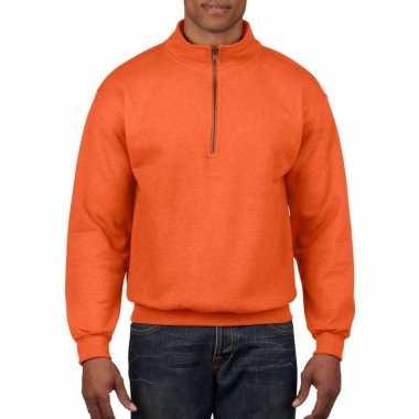 Oranje warme trui voor volwassenen
