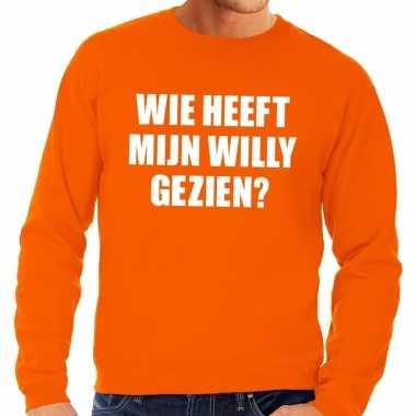 Oranje willy sweater heren