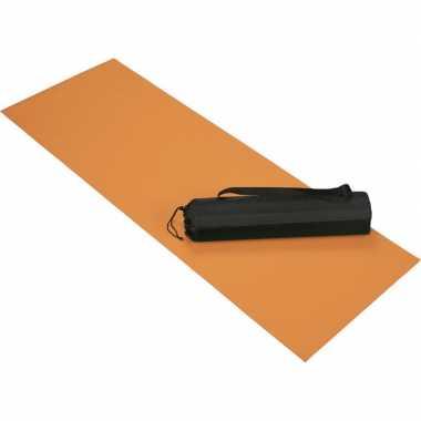 Oranje yoga fitness sportmat 60 x 170 cm