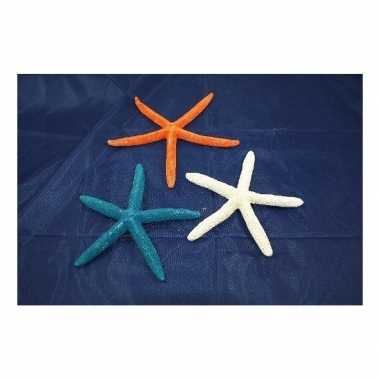 Oranje zeesterren decoratie 17 cm