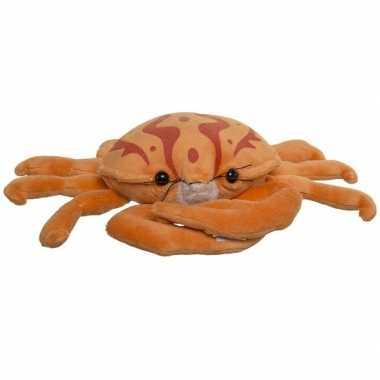 Pluche dierenknuffel krab oranje 25 cm