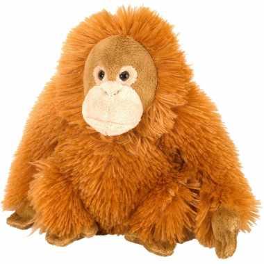 Pluche knuffel knuffeldier orang utan oranje 20 cm