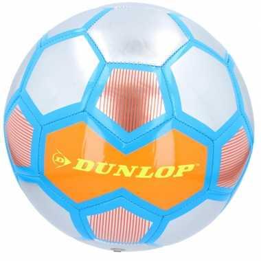 Professionele voetbal oranje/zilver/blauw 23 cm