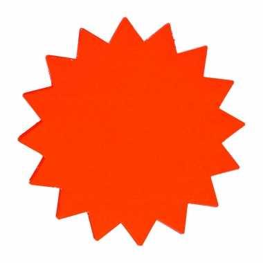 Reclame sterren neon oranje 18 cm / 60x stuks reclame figuren