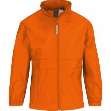 Regenjack voor jongens oranje