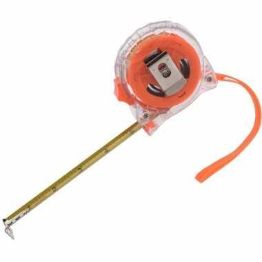 Rolmaat oranje met broekklem 500 cm 10149645
