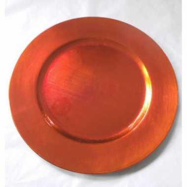Ronde onderzetter oranje 33 cm