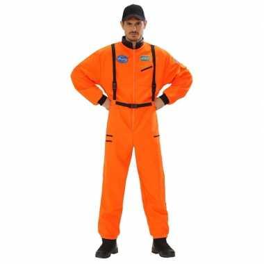 Ruimtevaart kostuum oranje voor heren