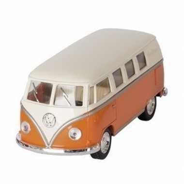 Schaalmodel volkswagen t1 two-tone oranje/wit 13,5 cm