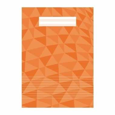 Schoolspullen schrift a4 gelinieerd oranje