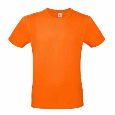 Set van 3x stuks oranje shirt met ronde hals voor koningsdag of nederland supporter voor heren, maat: l (52)